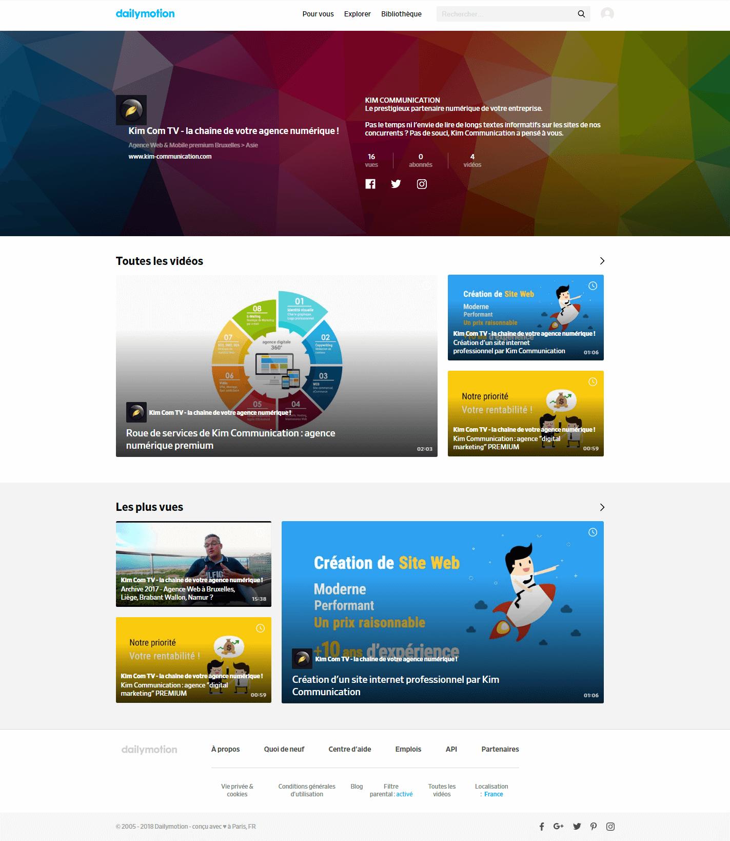 Kim Com TV: la chaîne de votre agence numérique premium