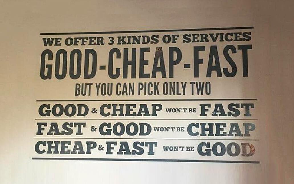 Je cherche un prestataire rapide et surtout, pas cher !